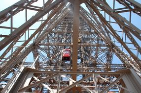 lift at the Eiffel Tower