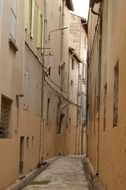 narrow alleyway in old france