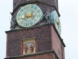 Clock tower in Poland