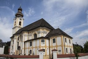 Baroque church with wooden tiles
