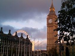 big ben tower at cityscape, uk, london
