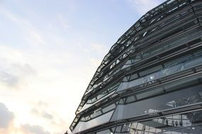 reichstag dome berlin glass dome sky view