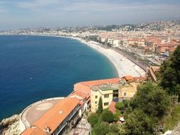 view of the cote d'azur