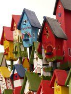 Colorful house for birds