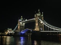 night tower bridge london