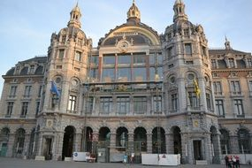 central station in the city of Antwerp