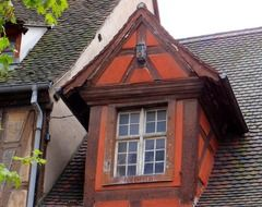 brown gable buildings in Alsace, France