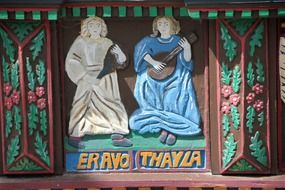 figures on the facade of eravo thayla