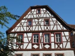timber framing house front view