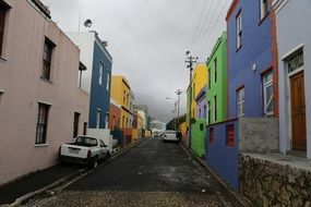 The Bo-Kaap is an area of Cape Town with the colorful buildings, South