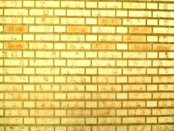 texture of yellow brick wall