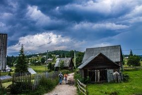 Landscape of cloudly day in Romania