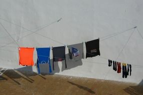 colorful clothes on a clothesline