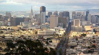 beautiful cityscape in san francisco
