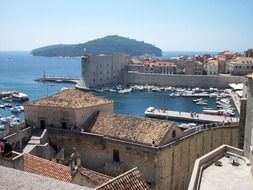 dubrovnik bay wall croatia