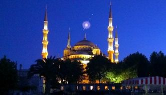 night lights of Sultan Ahmed Mosque