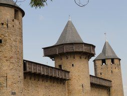 towers and walls of the fortress of Carcassonne