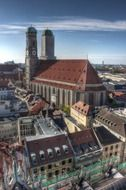 frauenkirche, Cathedral of Our Dear Lady in cityscape, germany, munich