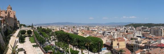 city wall Cagliari Sardinia panorama