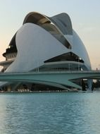 modern building in City of Arts and Sciences, Valencia, Spain