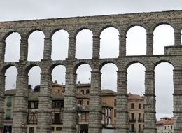 Antique buildings in Segovia, Spain
