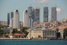Istanbul city near the river