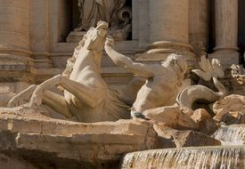 Trevi Fountain in Rome closeup