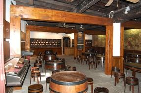 interior of a wine house in Funchal