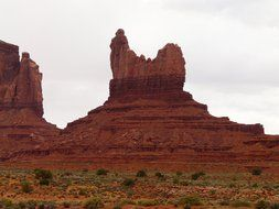 Red rocks in Monument Valley, Arizona