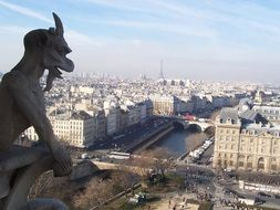 view from notre dame cathedral at paris