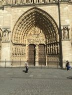 arch of a gothic church in Europe