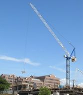 construction crane building site