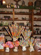 candy and colorful lollipops