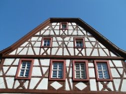 ancient timber framing house