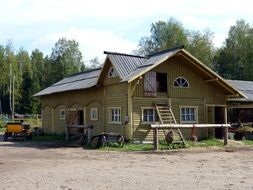 rural house in Russia
