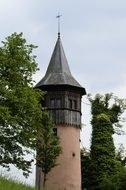 ancient tower on mainau island