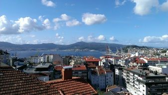 view of the port in Galicia