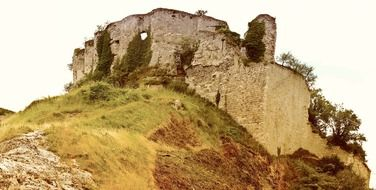ruins of a fortress on a hill