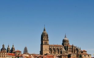 the roof of the salamanca Cathedral, Spain