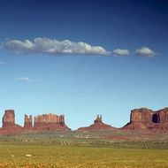 Monument Valley on the horizon