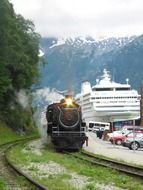 Steam locomotive in Alaska