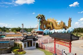 huge chinese dragon figure