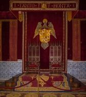 the throne of the Spanish Palace