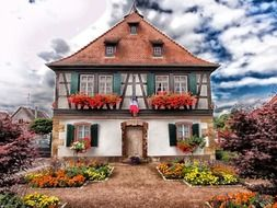 Traditional style of houses in France