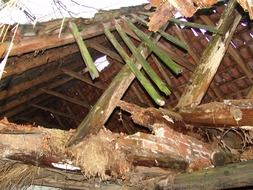 home crash roof truss