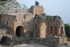 classical Ruins of the amphitheatre, Italy