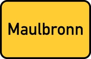 "road sign with a inscription ""Maulbronn"""