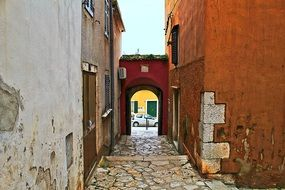 narrow alley in the old town of croatia