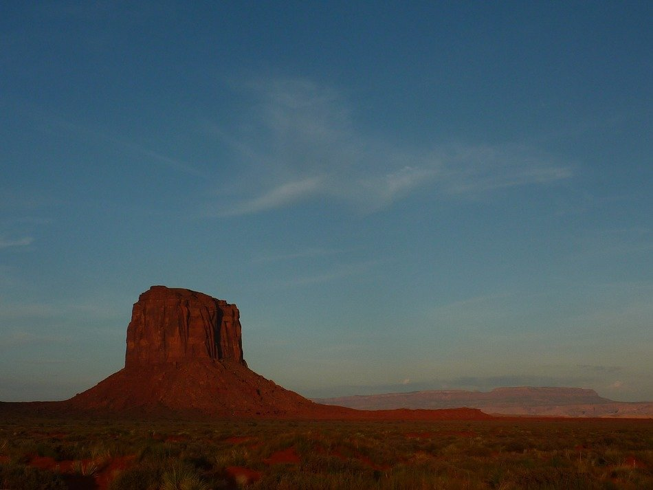 Landscape of monument valley at sunrise