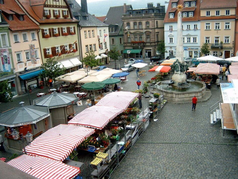 Landscape of marketplace in kulmbach